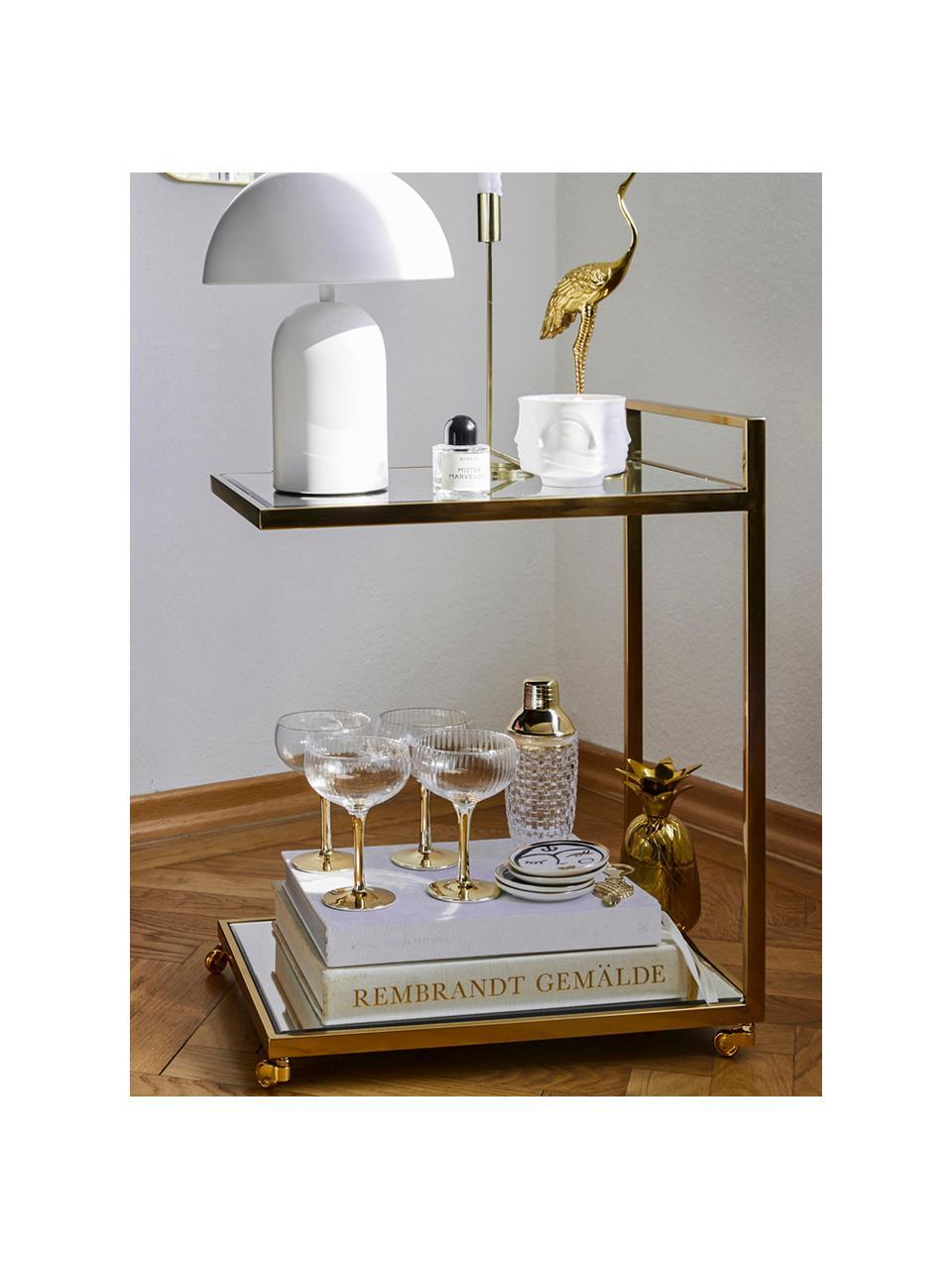Sous-verre design Gentlemen, 4élém., Couleur dorée, noir, blanc