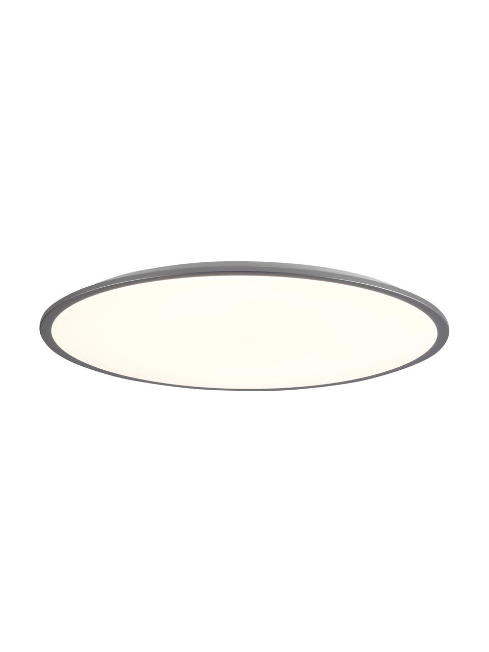 Panel świetlny LED z funkcją przyciemniania Jamil, Biały, odcienie srebrnego, Ø 78 x W 11 cm