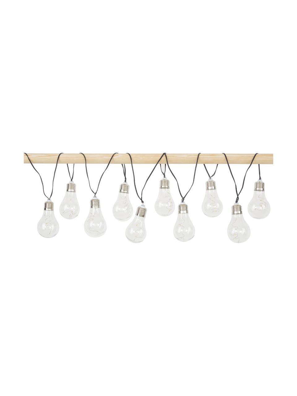 Solar Lichterkette Glow, 390 cm, 10 Lampions, Lampions: Kunststoff, Transparent, L 390 cm