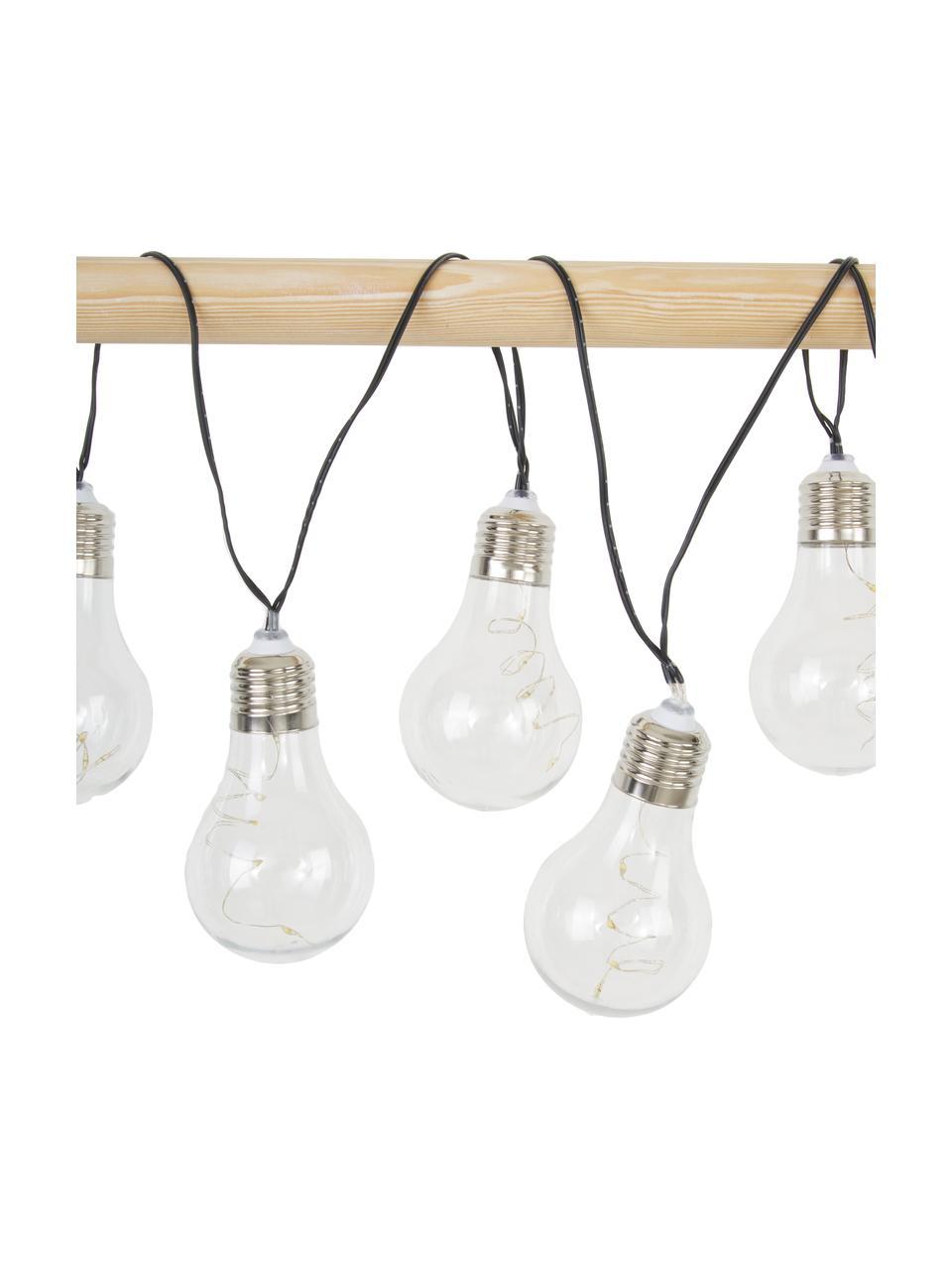Solar lichtslinger Glow, 390 cm, 10 lampions, Lampions: kunststof, Transparant, L 390 cm