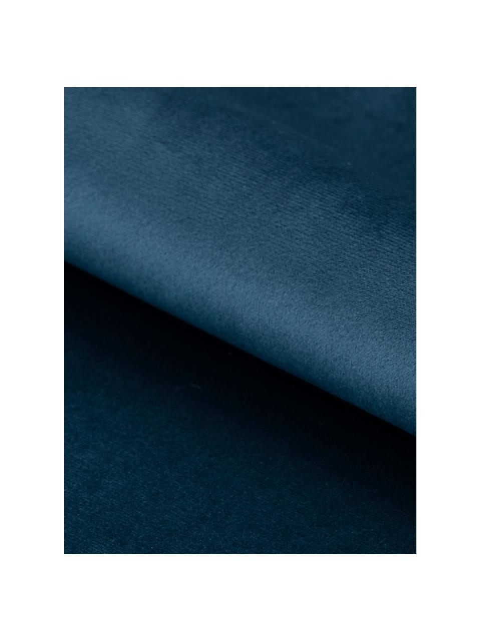 Panca in velluto Glory, Rivestimento: velluto di poliestere 25., Struttura: metallo verniciato a polv, Blu, nero, Larg. 95 x Alt. 45 cm