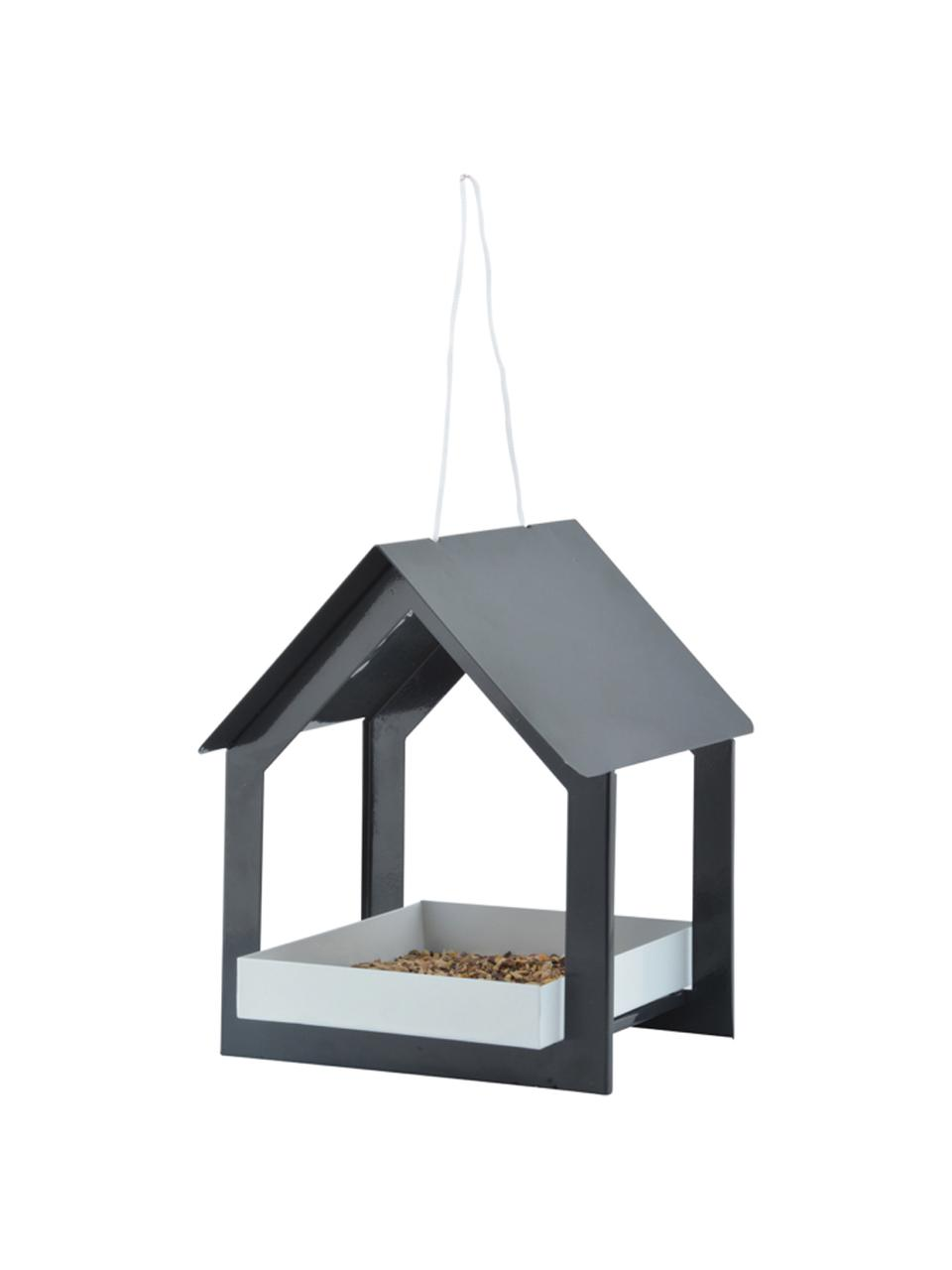Mangiatoia per uccelli Rado, Acciaio, Antracite, bianco, Larg. 19 x Alt. 23 cm