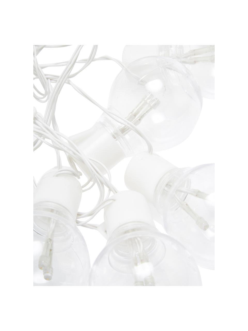 Guirlande lumineuse guinguette LED Partaj, 950cm, Blanc