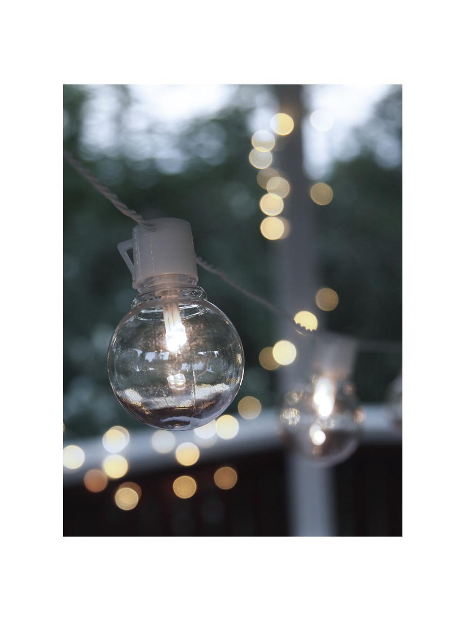 LED-Lichterkette Partaj, 950 cm, 16 Lampions, Lampions: Kunststoff, Weiß, L 950 cm