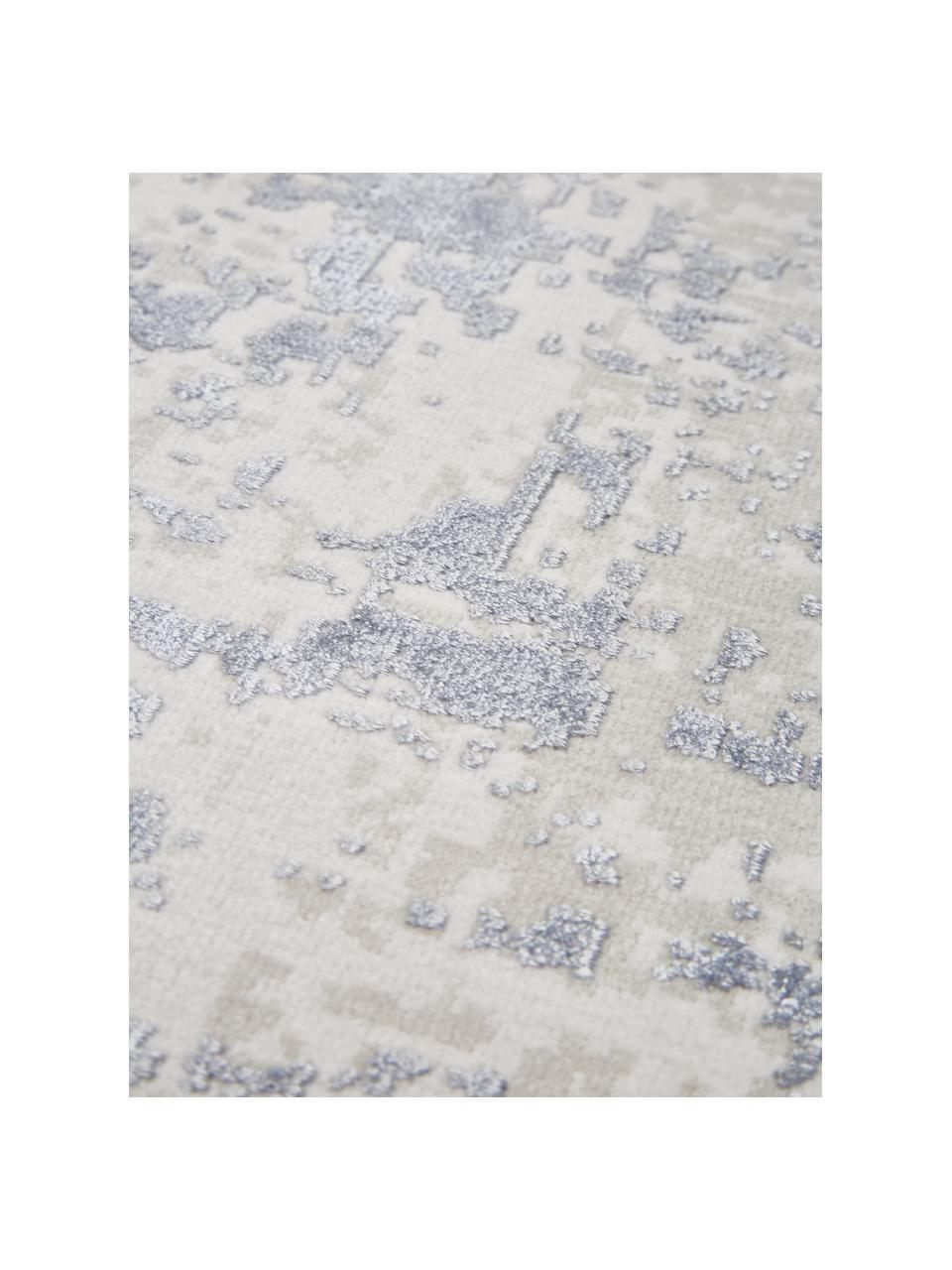 Dywan w stylu vintage z frędzlami z połyskiem Cordoba, Niebieski, szary, S 130 x D 190 cm (Rozmiar S)
