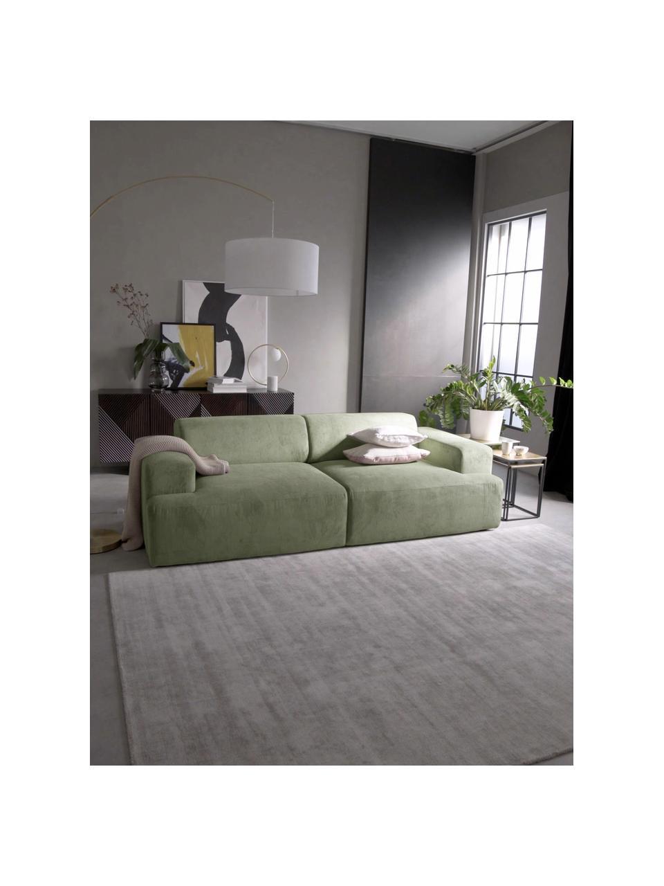 Canapé 3places velours côtelé vert Melva, Velours côtelé vert