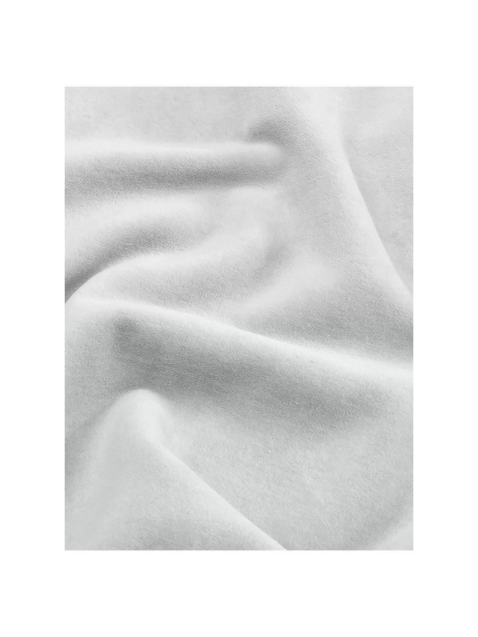 Einfarbige Samt-Kissenhülle Dana in Hellgrau, 100% Baumwollsamt, Hellgrau, 40 x 40 cm
