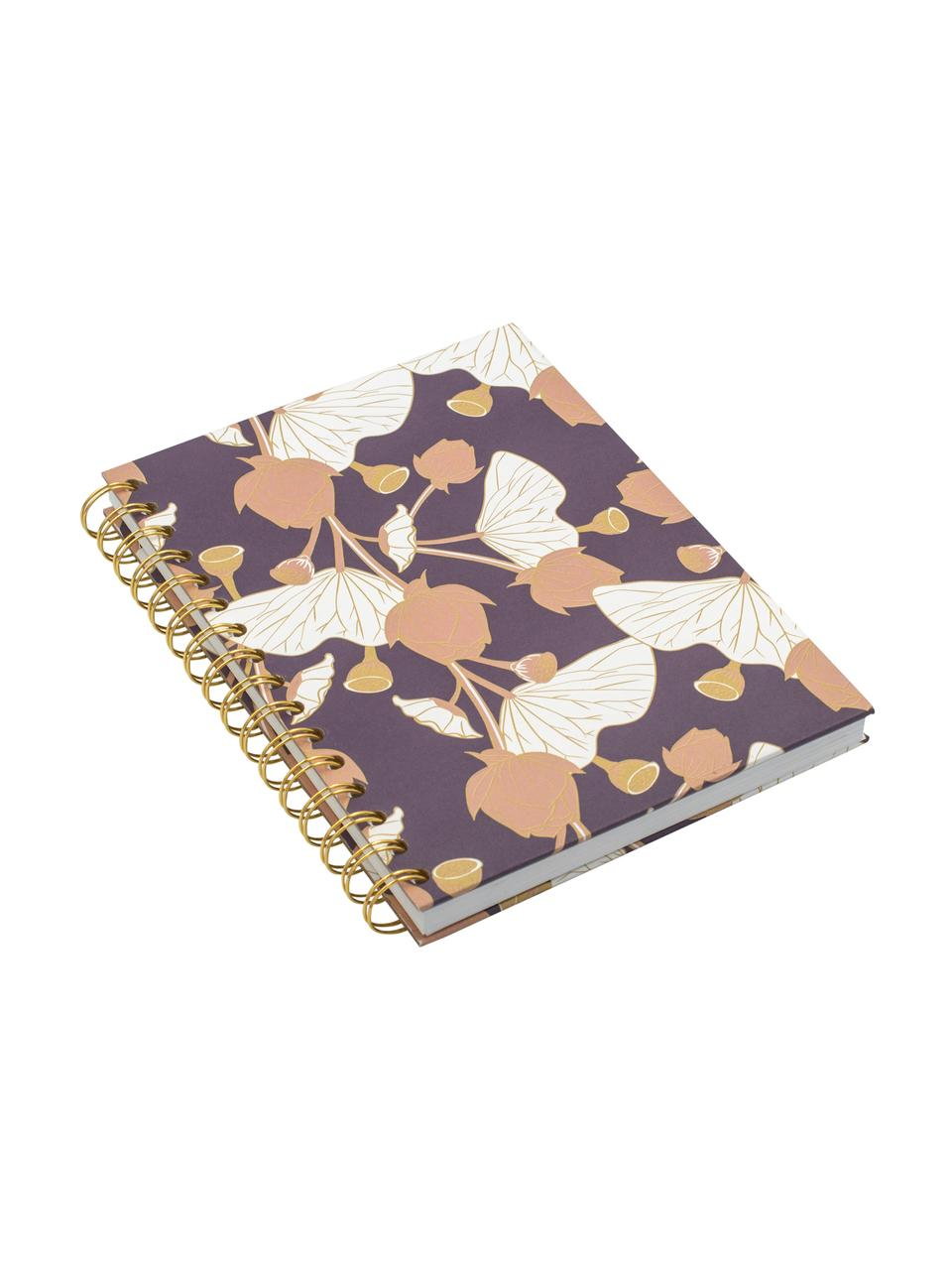 Notitieboek Lotus, Lila, roze, geel, wit, 16 x 21 cm