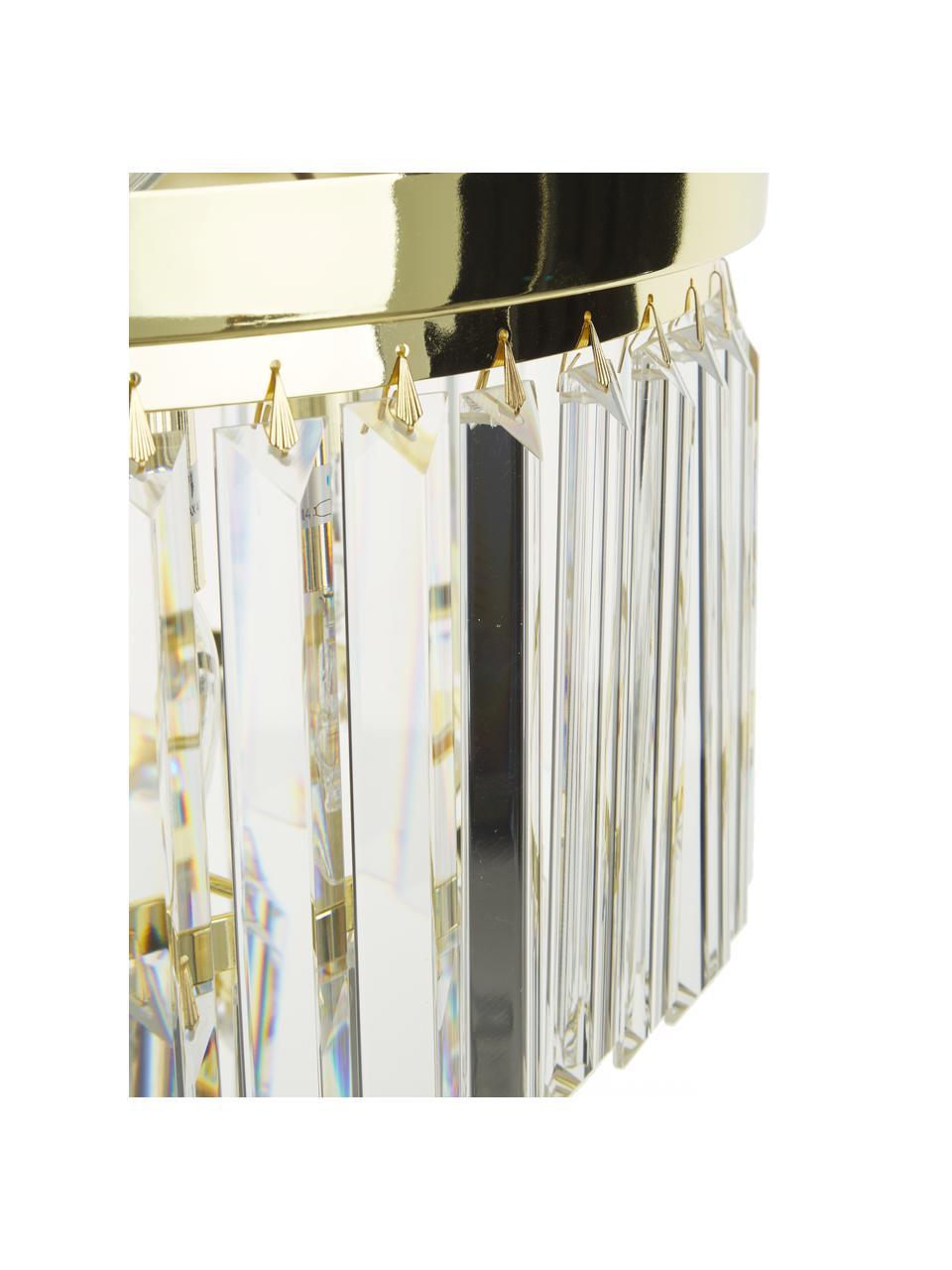 Lampa sufitowa ze szkła kryształowego Gracja, Odcienie złotego, transparentny, Ø 40 x W 40 cm