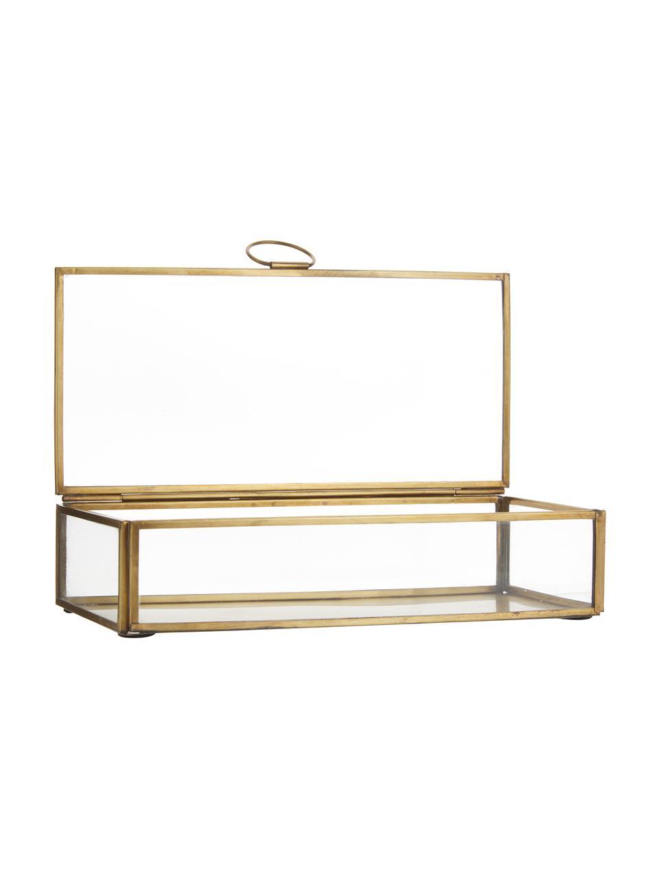 Scatola portaoggetti Janni, Ottone, vetro, Ottone, Larg. 22 x Prof. 10 cm