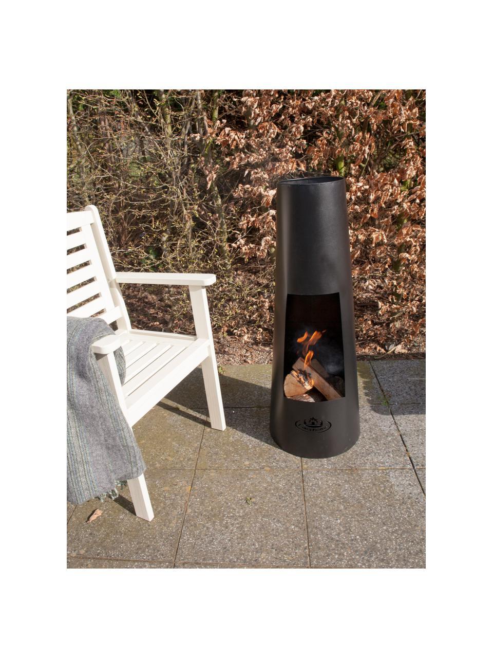 Stufa da patio Pia, Metallo rivestito, Nero, Ø 38 x Alt. 100 cm