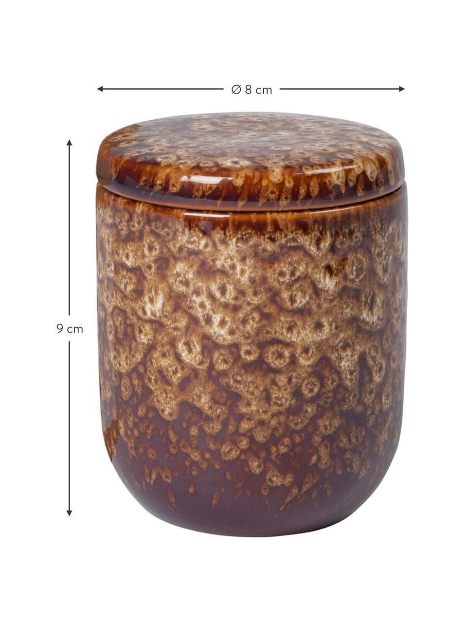 Świeca zapachowa Spiced Amber (ambra), Odcienie brązowego, Ø 8 x W 9 cm