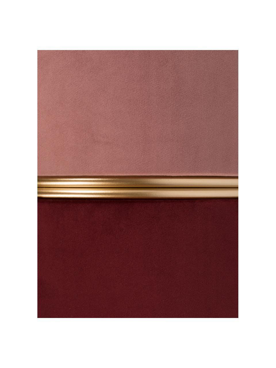 Samt-Hocker Bubbly, Bezug: Polyestersamt 20.000 Sche, Gestell: Mitteldichte Holzfaserpla, Rosa,Rubinrot, Ø 35 x H 39 cm