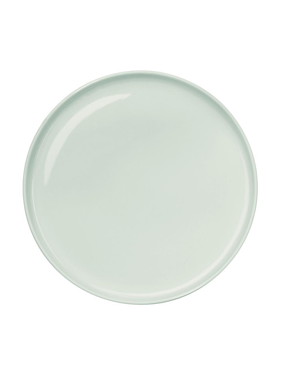 Talerz śniadaniowy z porcelany Kolibri, 6 szt., Porcelana, Zielony miętowy, Ø 21 cm