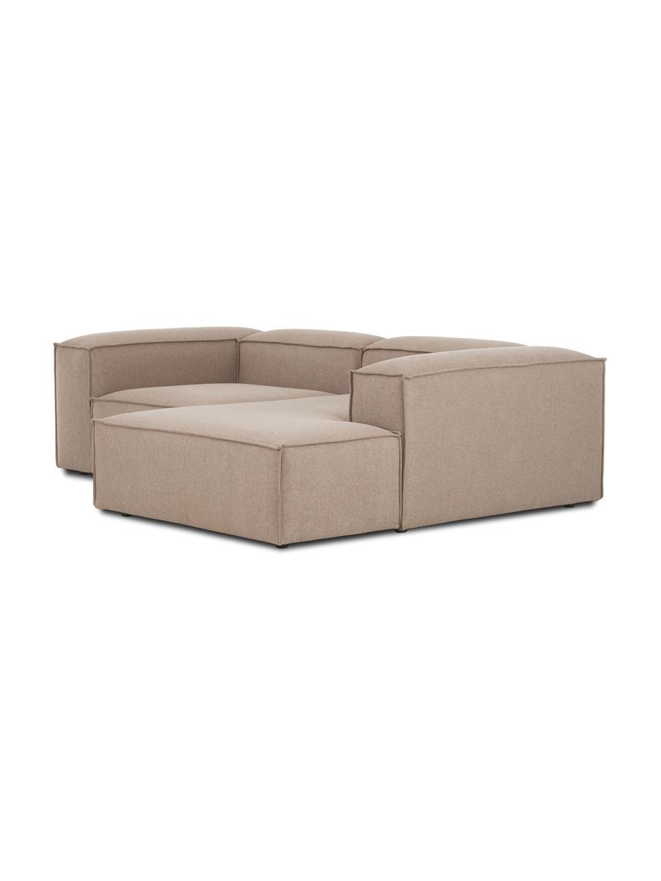 Narożna sofa modułowa Lennon, Tapicerka: 100% poliester Dzięki tka, Stelaż: lite drewno sosnowe, skle, Nogi: tworzywo sztuczne Nogi zn, Brązowy, S 238 x G 180 cm