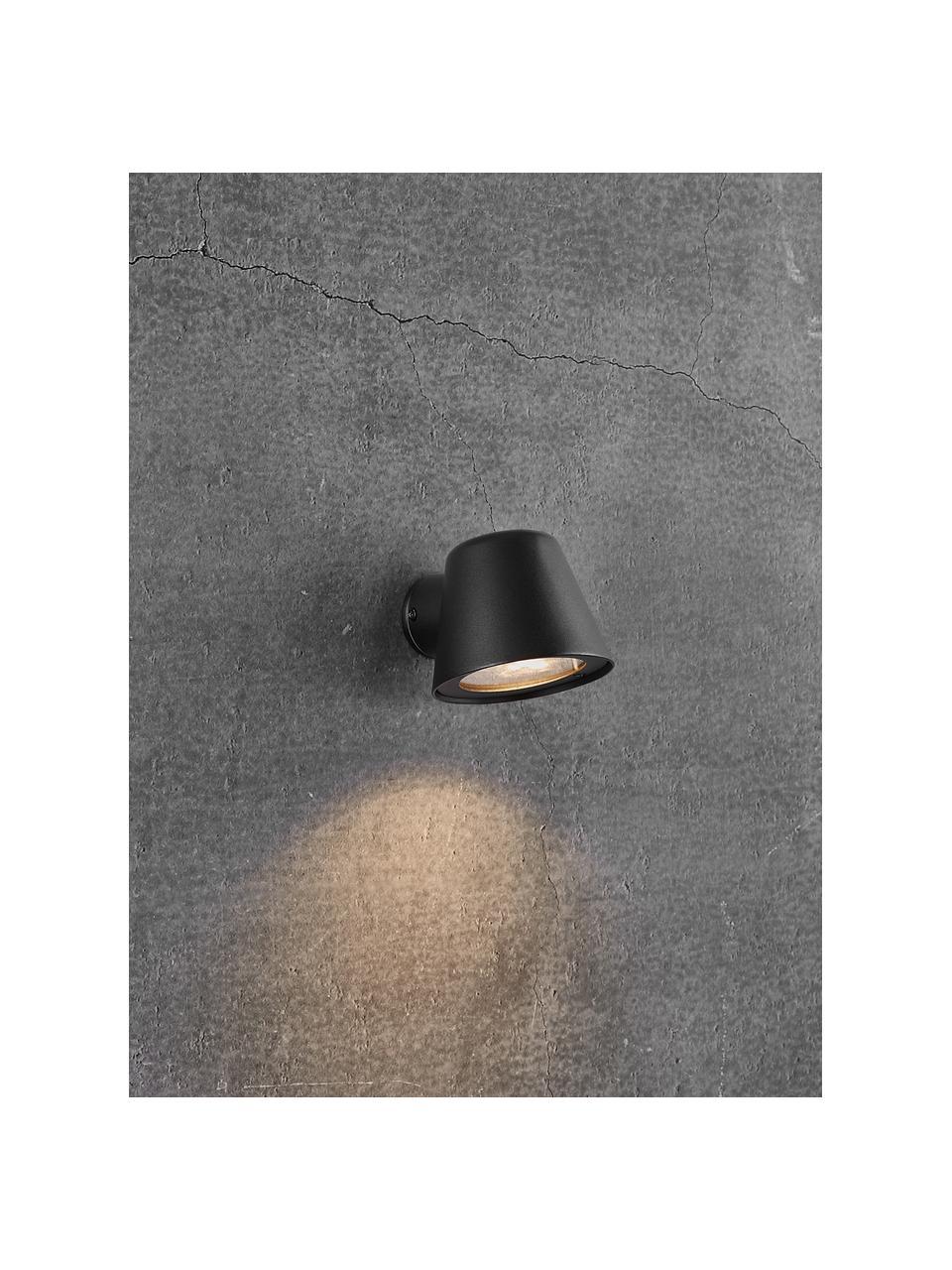 Kinkiet zewnętrzny Aleria, Czarny, S 12 x W 11 cm