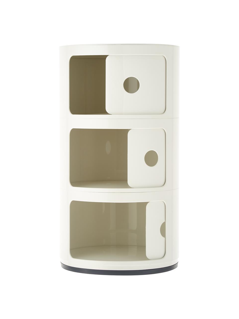Stolik pomocniczy Componibile, Tworzywo sztuczne (ABS), lakierowane, Biały, Ø 32 x W 59 cm
