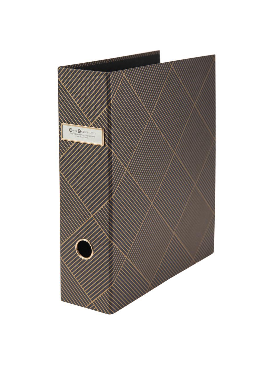 Cartella portadocumenti Archie, Dorato, grigio scuro, Larg. 29 x Alt. 32 cm