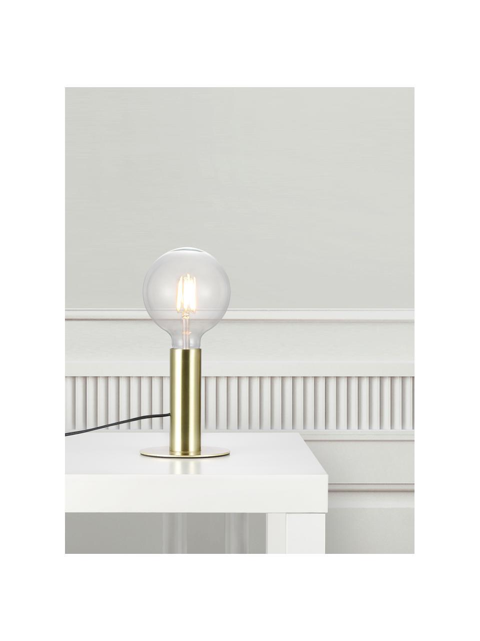 Lampada da tavolo in metallo Dean, Base della lampada: ottone, Ottone, Ø 13 x Alt. 15 cm