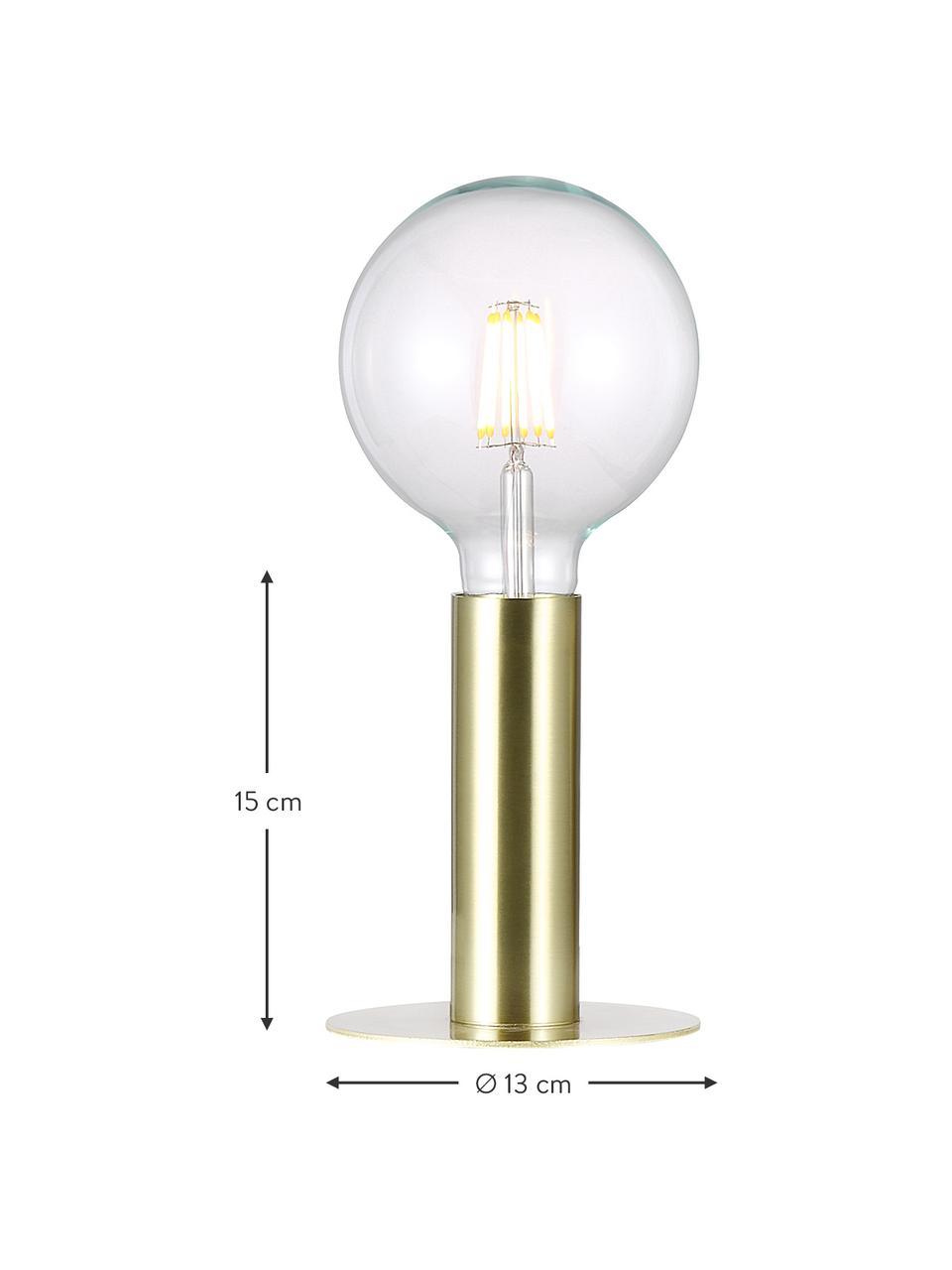 Kleine Tischlampe Dean aus Metall, Lampenfuß: Messing, Messing, Ø 13 x H 15 cm