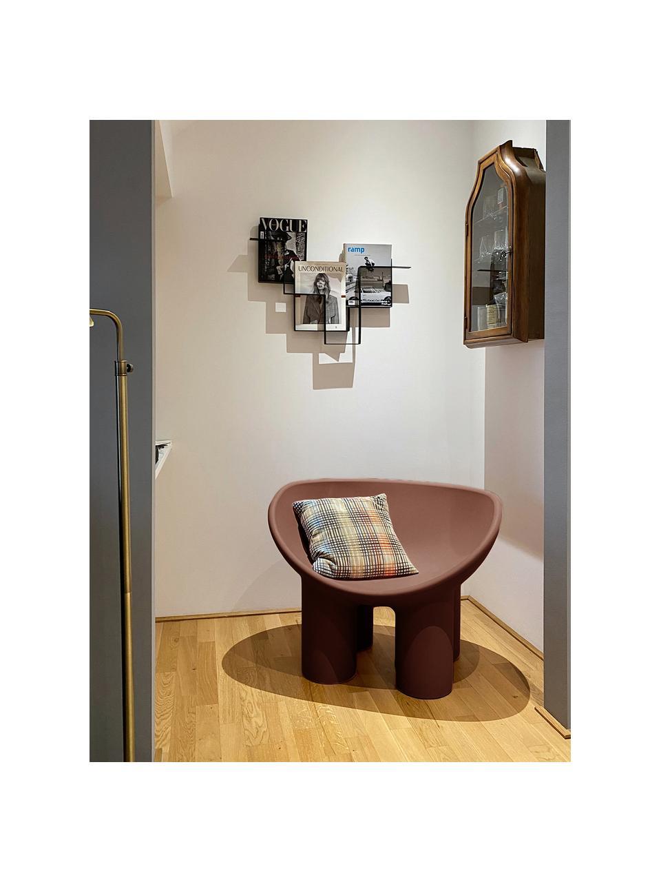Designer Sessel Roly Poly in Braun, Polyethylen, im Rotationsgussverfahren hergestellt, Braun, B 84 x T 57 cm