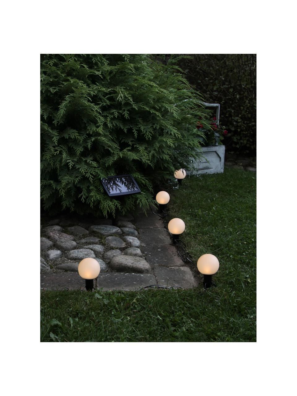 Solar Lichterkette Globus, 500 cm, 6 Lampions, Schwarz, Transparent, L 500 cm