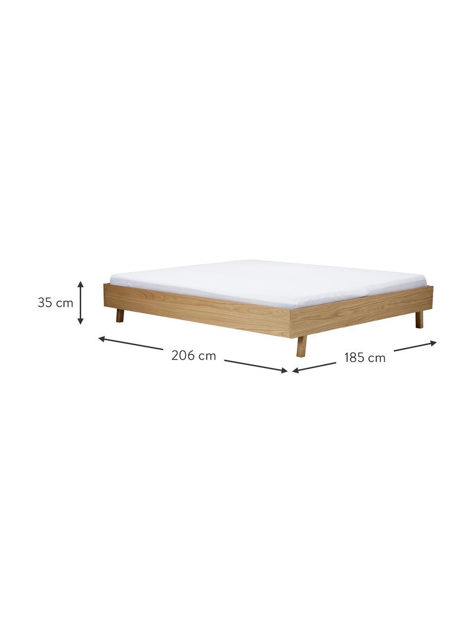 Dřevěná postel bez čela Tammy, Dub