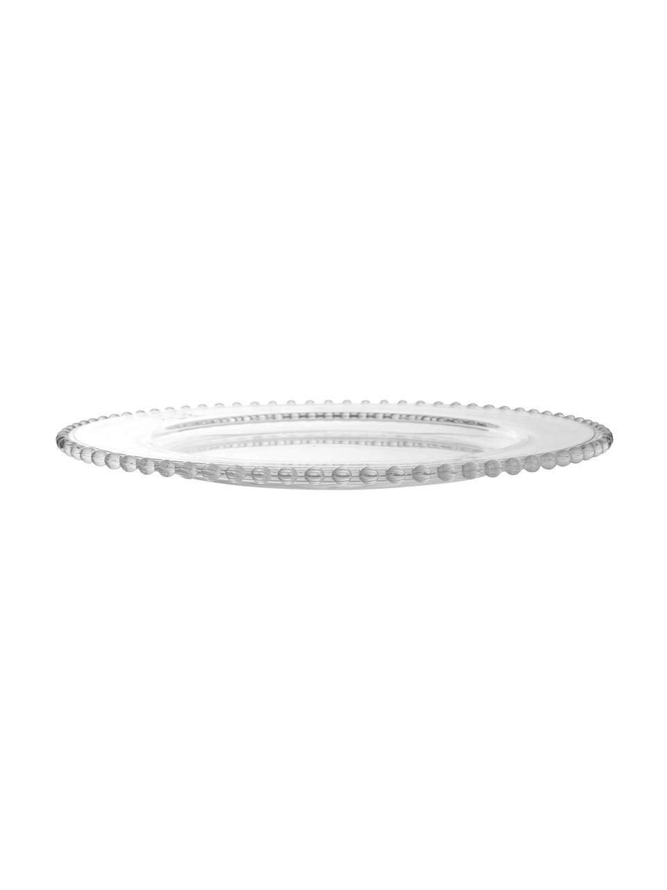 Assiette de présentation en verre Perles, Transparent
