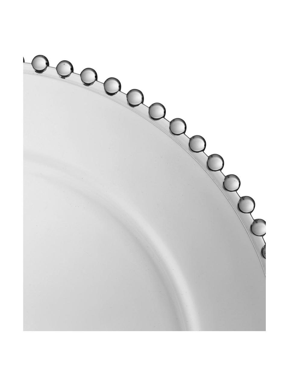 Bajoplato de vidrio Perles, Vidrio, Transparente, Ø 33 cm