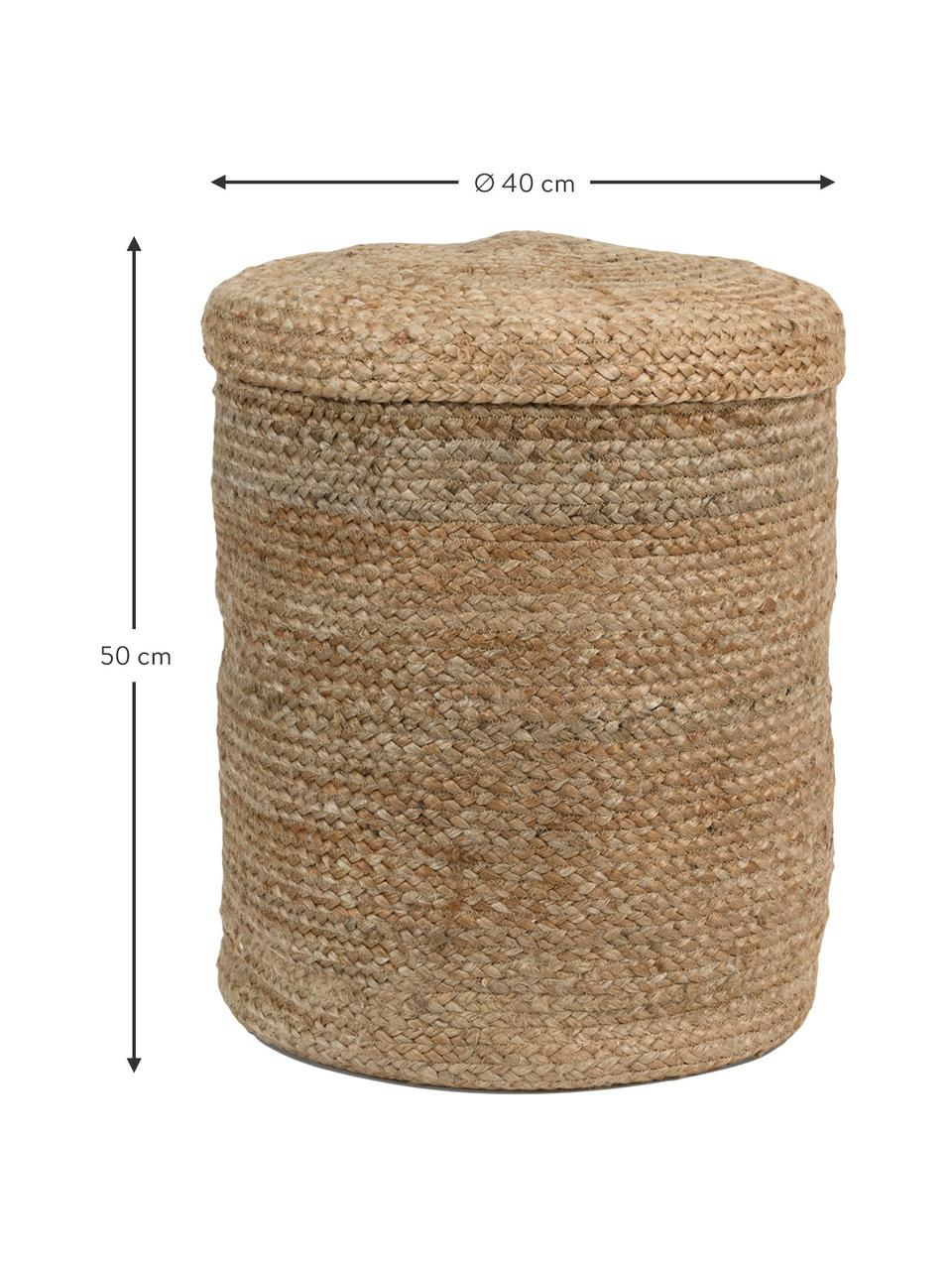 Aufbewahrungskorb Julita, 100% Jute, Jute, Ø 40 x H 50 cm