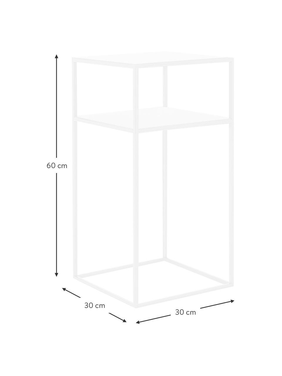 Table d'appoint blanche en métal Tensio, Blanc