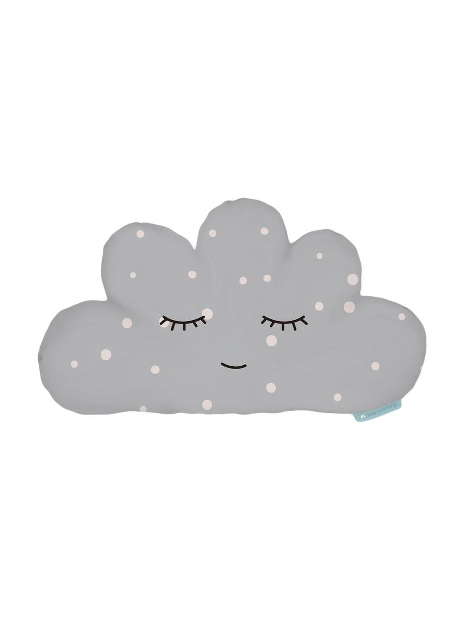Kuschelkissen Cloud, Polyester (Mikrofaser), Grau, Weiß, Schwarz, 21 x 42 cm