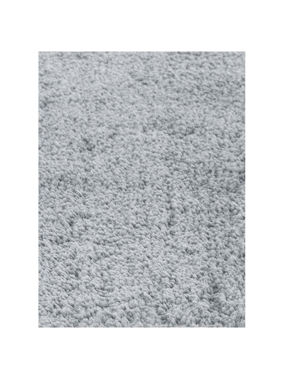 Tappeto rotondo a pelo lungo grigio Leighton, Retro: 70% poliestere, 30% coton, Grigio, Ø 200 cm (taglia L)