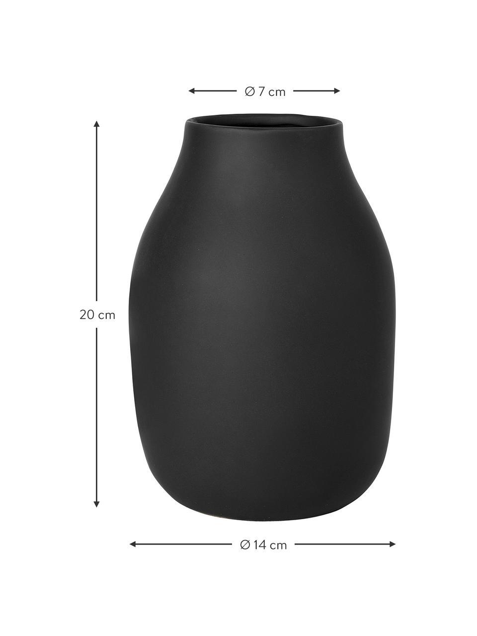 Wazon z ceramiki Colora, Ceramika, Czarny, Ø 14 x W 20 cm