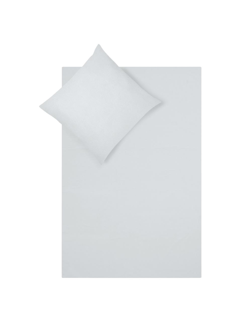 Flanell-Bettwäsche Biba in Hellgrau, Webart: Flanell Flanell ist ein k, Hellgrau, 135 x 200 cm + 1 Kissen 80 x 80 cm