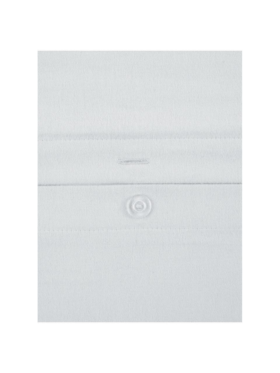 Pościel z flaneli Biba, Jasny szary, 135 x 200 cm + 1 poduszka 80 x 80 cm