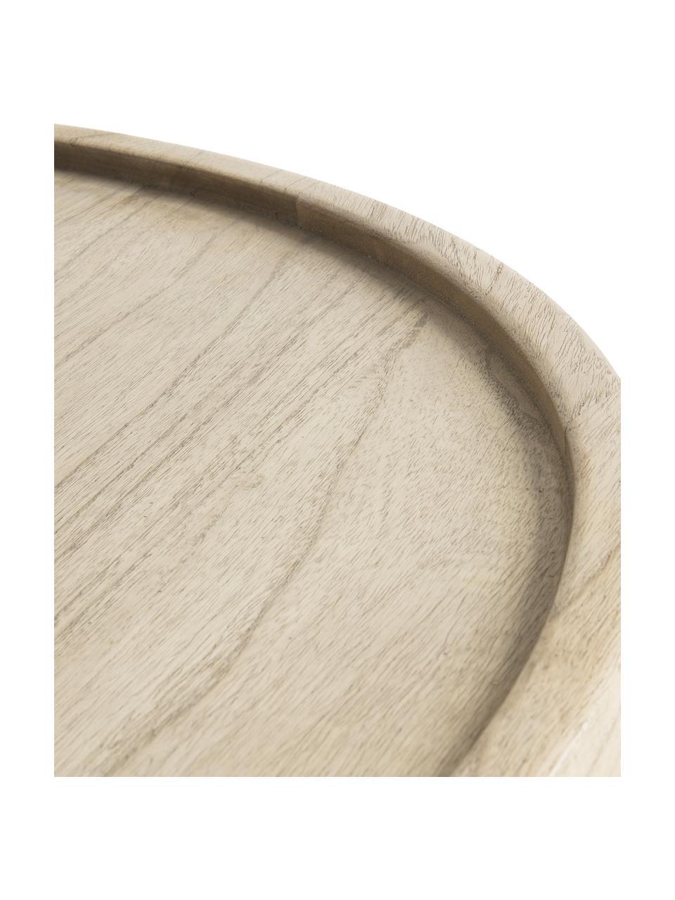 Couchtisch Tenda aus Holz, Mindiholz, Beige, Ø 81 x H 81 cm