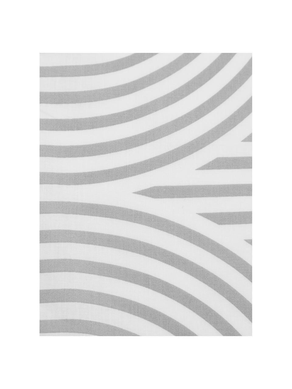 Pościel z bawełny Arcs, Szary, biały, 240 x 220 cm + 2 poduszka 80 x 80 cm