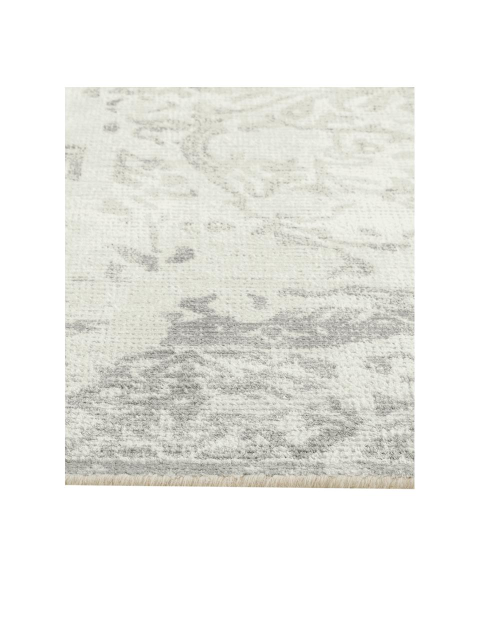 Dywan z wełny/wiskozy w stylu vintage Florentine, 50 % wełna, 50 % wiskoza   Włókna dywanów wełnianych mogą nieznacznie rozluźniać się w pierwszych tygodniach użytkowania, co ustępuje po pewnym czasie, Beżowy, jasny szary, S 170 x D 240 cm (Rozmiar M)