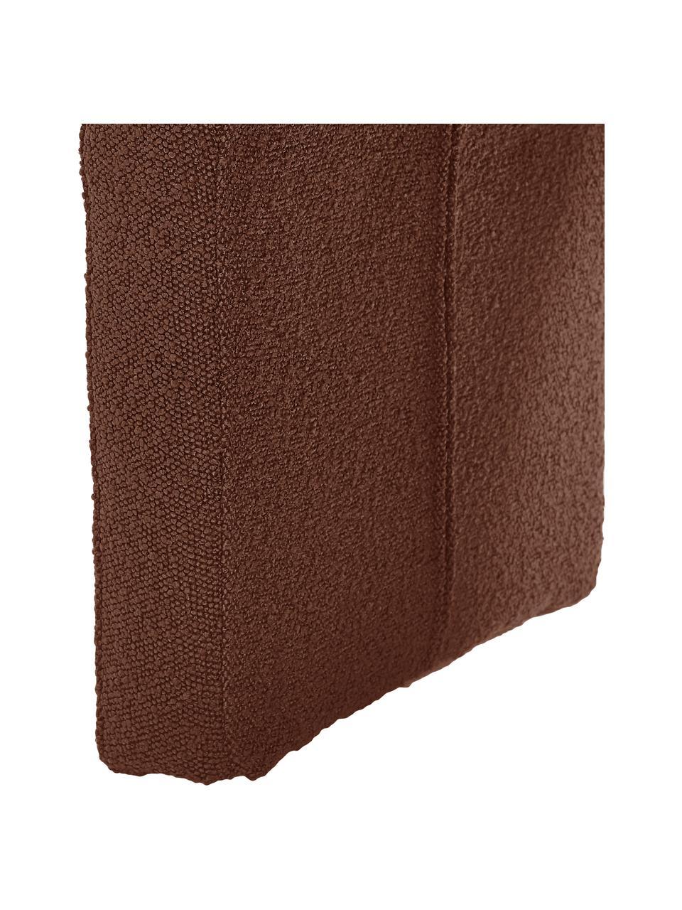 Banquette moderne en tissu bouclé Penelope, Tissu bouclé brun