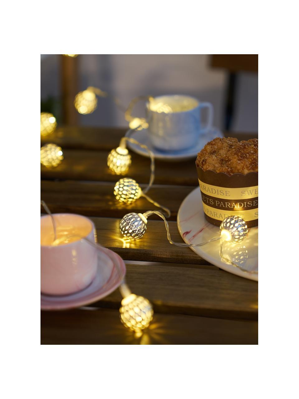 Solar Lichterkette Sunshine Glamour, 280 cm, 20 Lampions, Lampions: Metall, Metall, Schwarz, L 280 cm