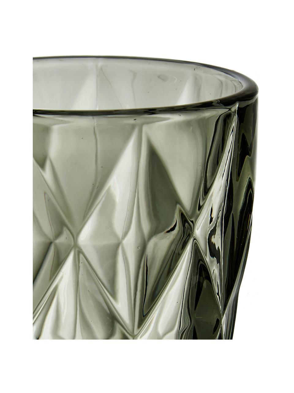 Sklenice se strukturálním vzorem Colorado, 4 ks, Šedá, transparentní