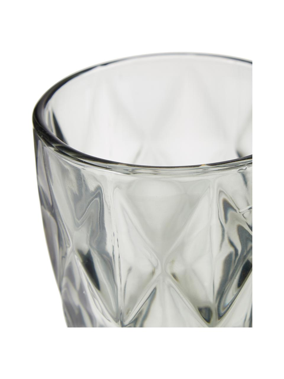 Szklanka Colorado, 4 szt., Szkło, Szary, transparentny, Ø 8 x W 10 cm
