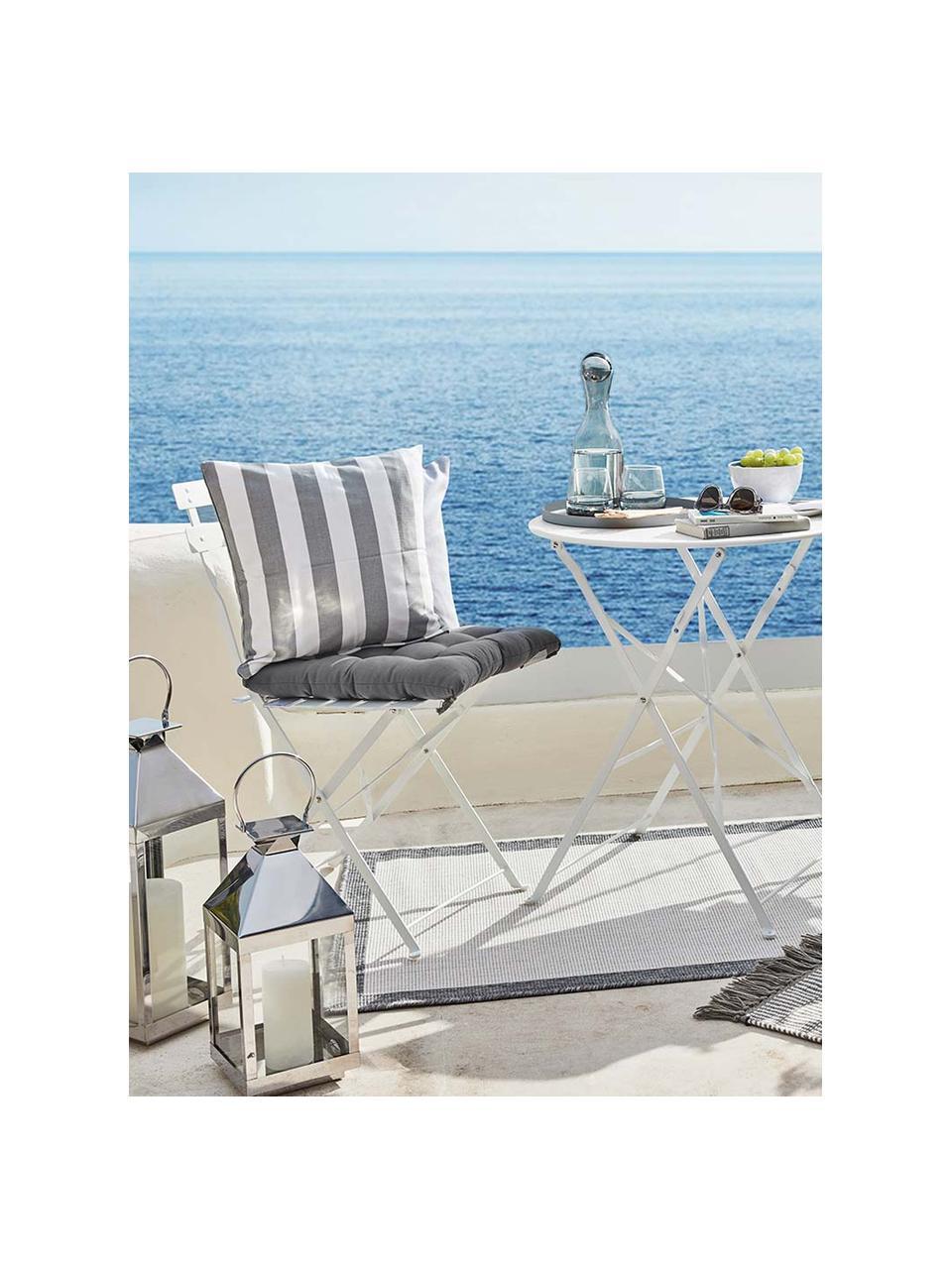 Cuscino sedia grigio scuro Ava, Rivestimento: 100% cotone, Grigio scuro, Larg. 40 x Lung. 40 cm
