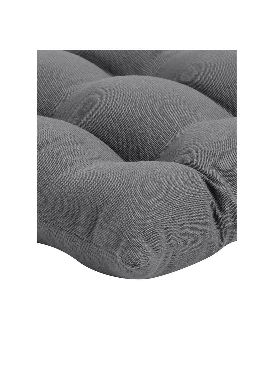 Sitzkissen Ava in Dunkelgrau, Bezug: 100% Baumwolle, Dunkelgrau, 40 x 40 cm