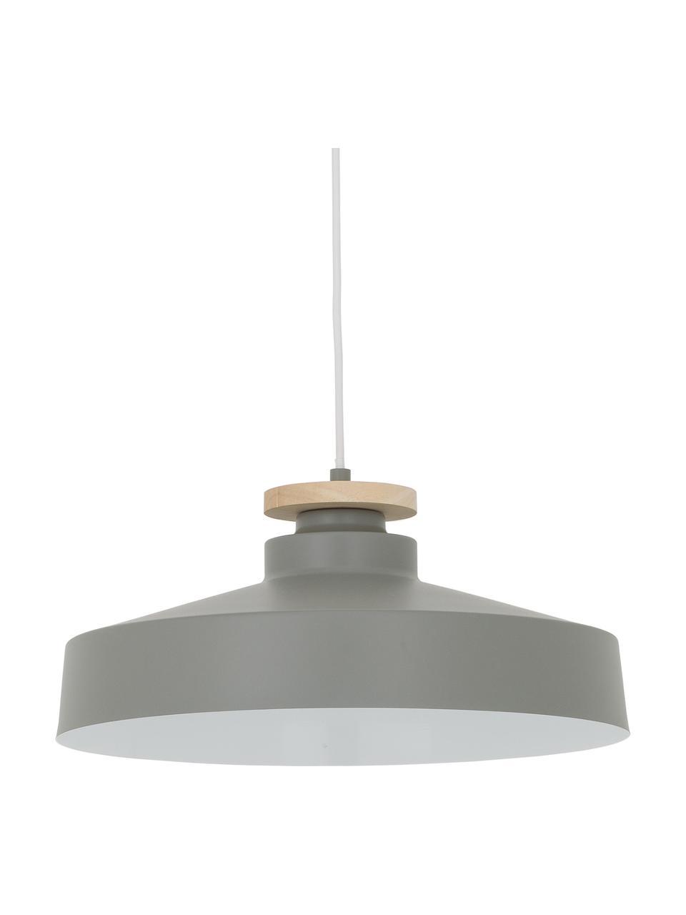 Lampada a sospensione stile nordico Malm, Paralume: metallo, Baldacchino: metallo, Grigio, Ø 40 x Alt. 20 cm