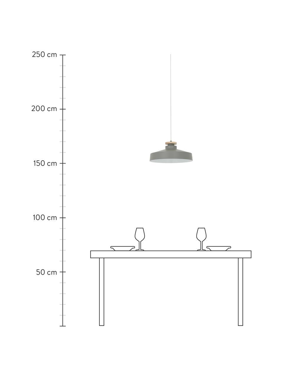 Lampa wisząca scandi Malm, Szary, Ø 40 cm x W 20 cm