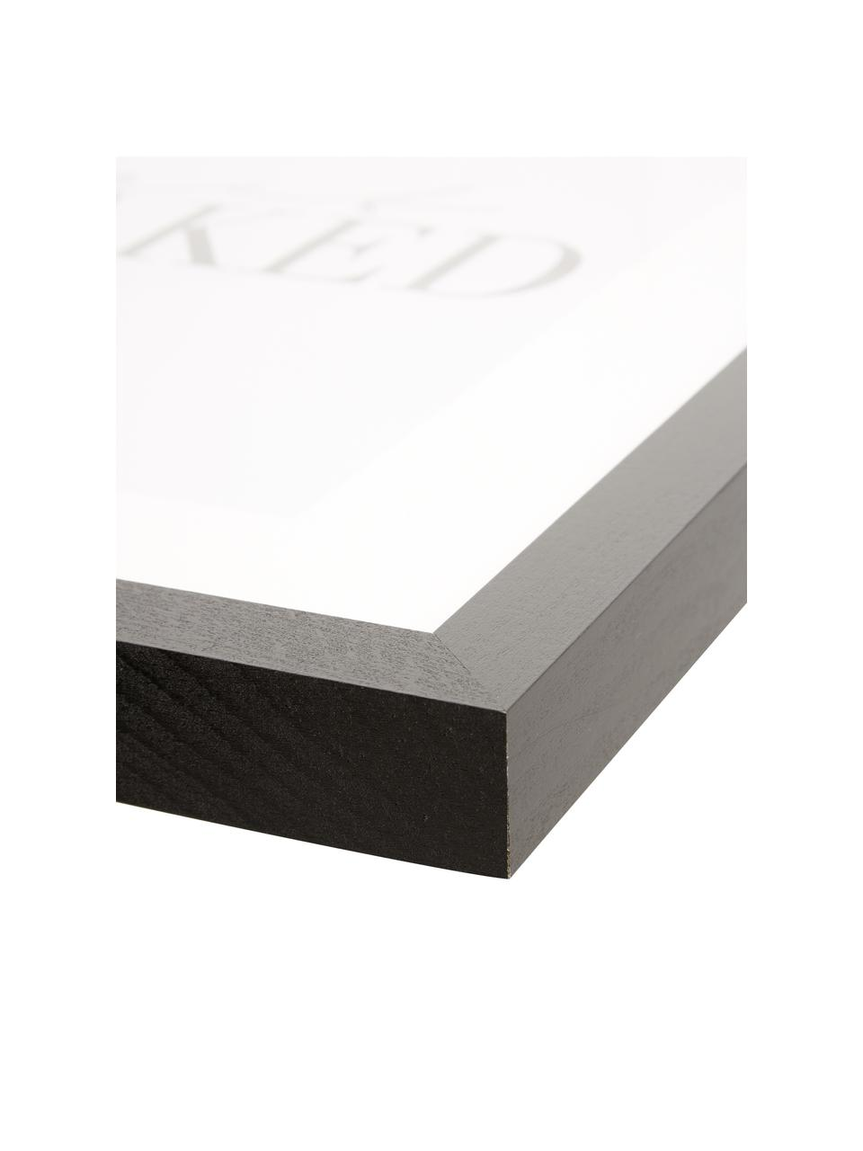 Stampa digitale incorniciata Get Naked, Immagine: stampa digitale su carta,, Cornice: legno, verniciato, Nero, bianco, L 33 x A 43 cm