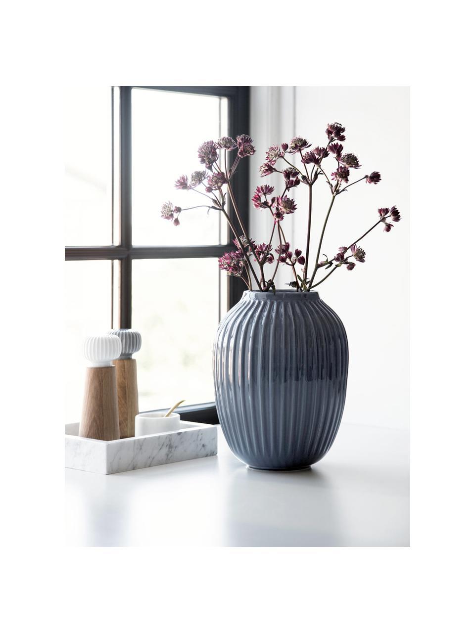 Ručně vyrobená designová váza Hammershøi, Antracitová