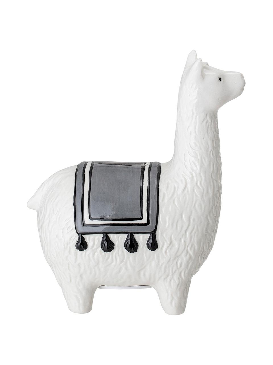 Tirelire blanche Lama, Blanc